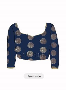 Navy Blue Art Silk Blouse