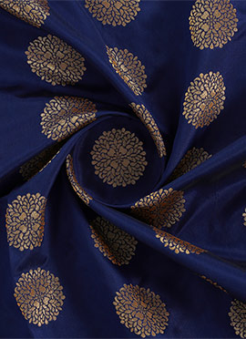 Navy Blue Art Silk Fabric