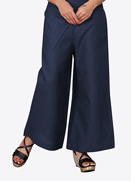 Navy Blue Cotton Culottes