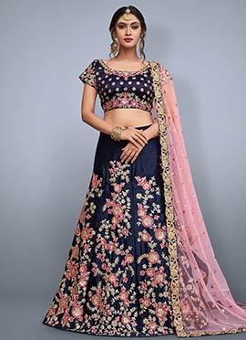 7abe877e0e0b01 Buy Blue Lehenga Choli | Blue Lehengas online | Designer Blue ...