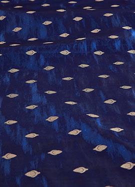Navy Blue Paper Silk Fabric