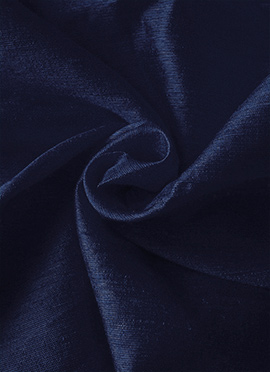 Navy Blue Taffeta Plain Fabric