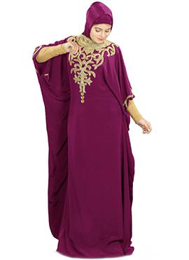 Nayyab Hand Embroidered Magenta Fustan