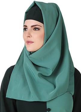 Nazeera Teal Green Polyester Hijab