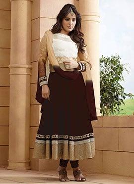 Neha Sharma Brown Anarkali Suit