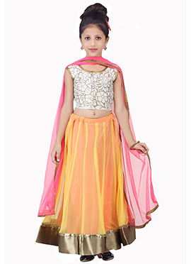 Net K And U Lehenga Choli