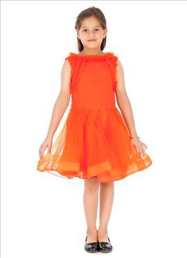 Net N Georgette Kidology Indowestern Dress
