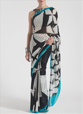 Nice Printed Pure Georgette Satya Paul Saree