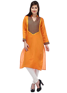 Ochre Blended Cotton Kurti