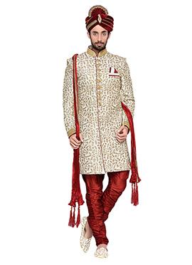 Off White Ae Dil Hai Mushkil Breeches Style Sherwa
