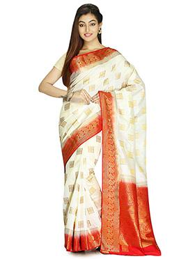 Off White Art Silk Saree