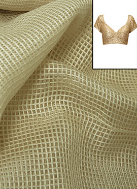 Off White Basket Weaved Chanderi Cotton Blouse Mat