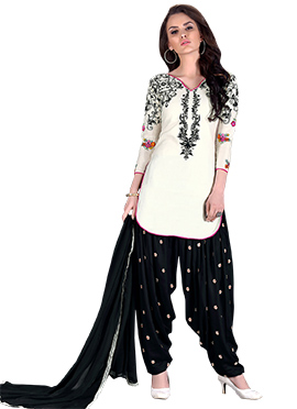 Off White Cotton Salwar Suit