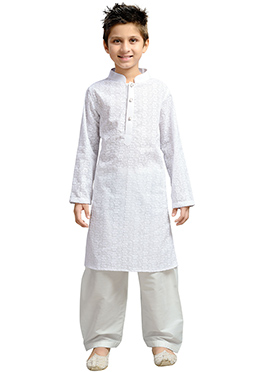 White K And U Kurta Pyjama