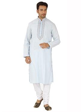 Off White Kurta Pyjama