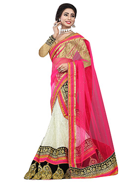 Off White N Pink Lehenga Choli