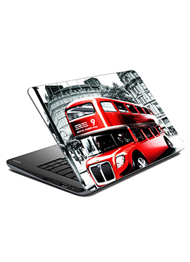 Off White N Red Double Decker Laptop Skin