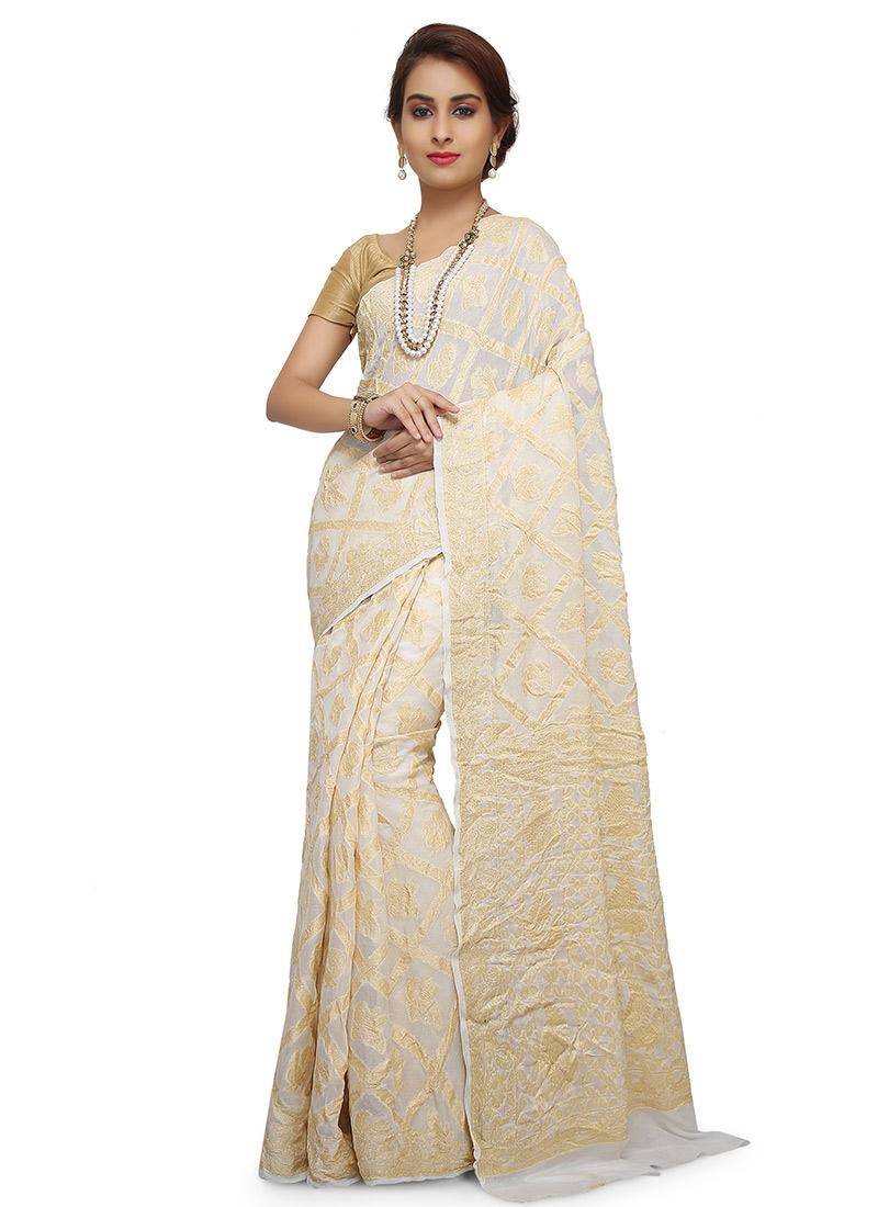 ff48abb6f7 Buy Off White Pure Silk Saree, Zari, sari Online Shopping | SAVNSSS13