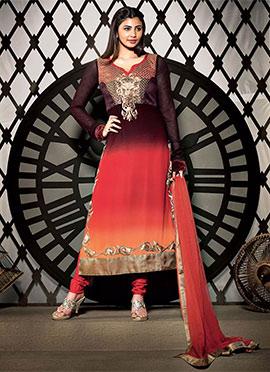 Ombre Daisy Shah Georgette Churidar Suit