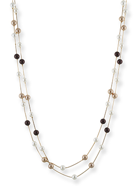 One Stop Fashion Bead N Pearl Layered Necklace
