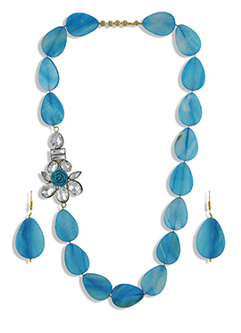 One Stop Fashion Blue Necklace Set
