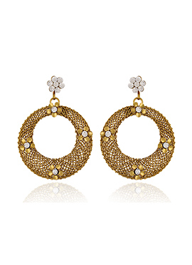 One Stop Fashion Circular Pattern Drop Earrings