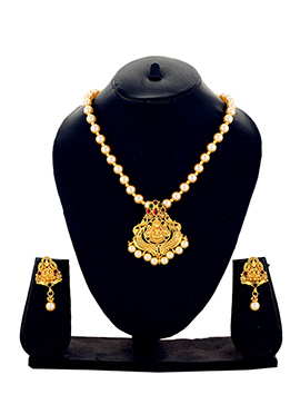 One Stop Fashion Gold Color Goddess Necklace Set