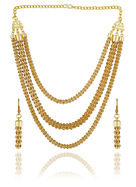 One Stop Fashion Gold Color Necklace Set