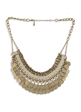 One Stop Fashion Gold N Brown Necklace
