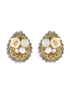 One Stop Fashion Gold N Yellow Studs