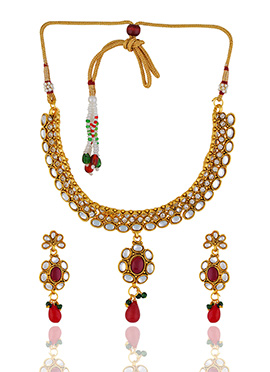 One Stop Fashion Gold Tone Necklace Set