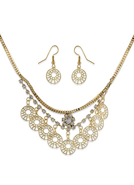 One Stop Fashion Golden Color Necklace Set
