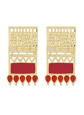 One Stop Fashion Golden Stud Earrings