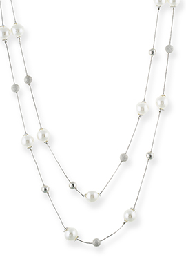 One Stop Fashion Off White Layered Necklace