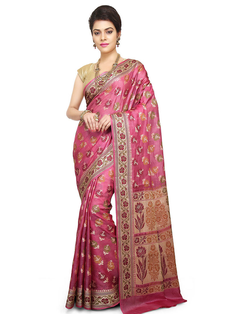 6e2098b622b778 Buy Onion Pink Pure Silk Saree, Zari, sari Online Shopping ...