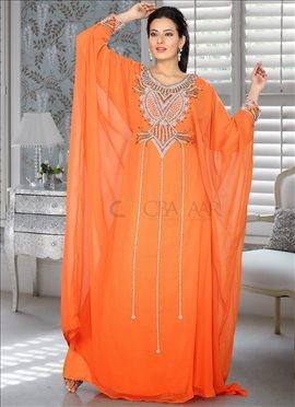 Opulent Orange Farasha Fustan
