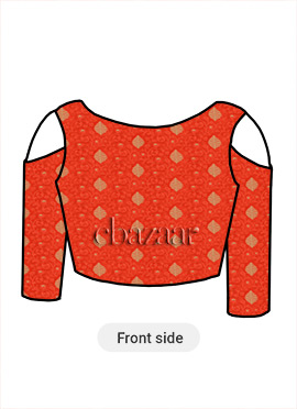 Orange Art Silk Blouse