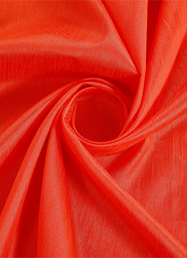 Orange Art Silk Fabric