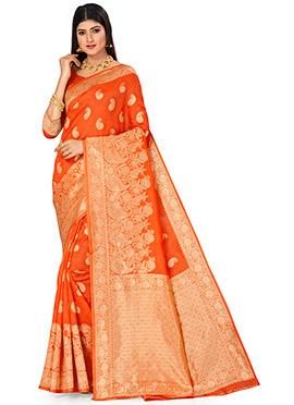 Details about  /Banarasi silk saree custom made blouse Indian wedding bridal women latest sari