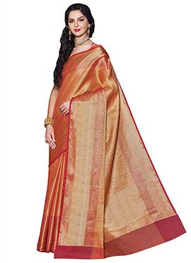Gold Benarasi Silk Saree