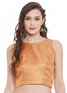 Orange Brocade Top