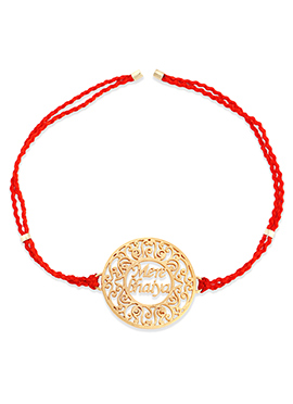 Orange Color Rakhi For Men