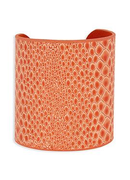 Orange Colored Geometric Style Bracelet