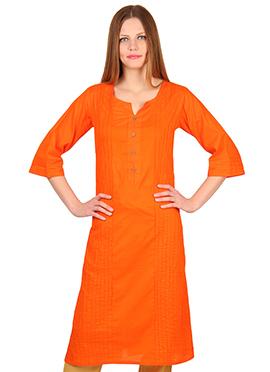 Orange Cotton Kurti