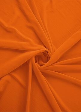 Orange Georgette Fabric