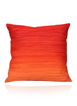 Orange Georgette N Cotton Cushion Cover