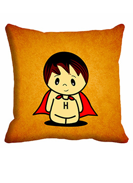 Orange Girl Cushion Cover