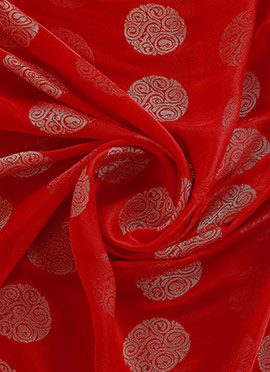 Red Kashi Silk Fabric