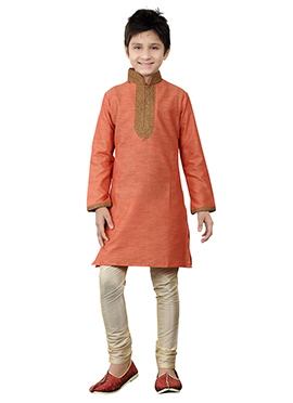 Orange Kids Kurta Pyjama
