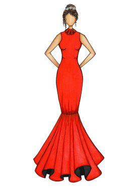 Orange Mermaid Gown